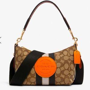 COACH jacquard with pebble grain leather bag